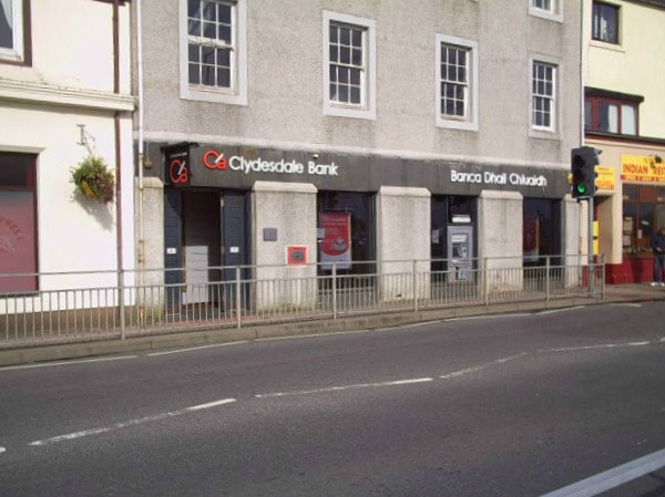 Clydesdale Bank, Bank,  Stornoway Banking Facilities