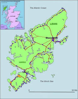 Isle of Lewis Location & Townships Stornoway Facilities